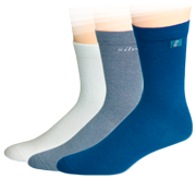 Ihle Socken sind besonders für Diabetiker oder lymphatische Beine geeignet, da sie kein einschneidendes Abschlussbündchen haben. Fotos: Ihle Strumpf GmbH
